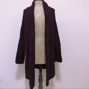 Free People Urban Outfitters Maroon Open Cardigan